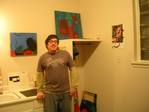 Ken Torres in his studio at the White Center For The Arts Open Studio Tour
