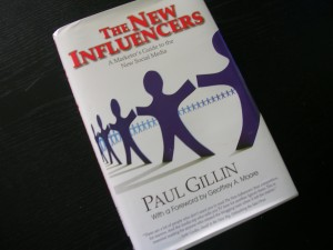 "The copy of ""The New Influencers"" by Paul Gillin that I won from Hubspot"