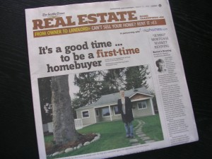"The Seattle Times Real Estate Article: ""It's a good time...to be a first-time homebuyer"""