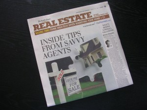 "Sunday Seattle Times Real Estate article, March 29, 2009: ""Inside Tips From Savvy Agents"""